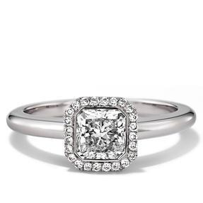Ring in 750 Weißgold mit weißen Diamanten. Erhältlich in verschiedenen Größen.