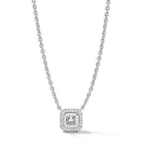 Anhänger in 750 Weißgold mit weißen Diamanten.