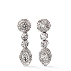 Ohrringe in 750 Weißgold mit weißen Diamanten.